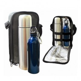 Travelling Thermo Flask & Stainless Steel Bottle Set