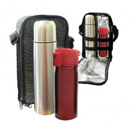 Travelling Thermo Flask & Buno Stainless Steel Bottle