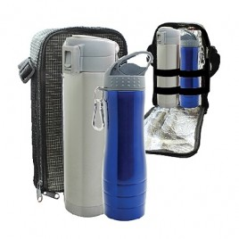 Travelling Buno Vacuum Flask & UFO Stainless Steel Bottle Set