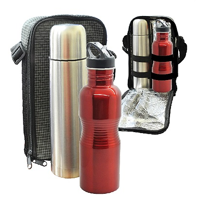 BO-074-Travelling-Thermo-Flask-&-Big-Rib-Stainless-Steel-Bottle-Set