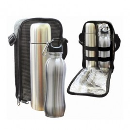Travelling Thermo Flask & Shapy Sport Bottle Set