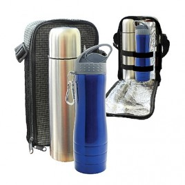 Travelling Thermo Flask & UFO Stainless Steel Bottle Set