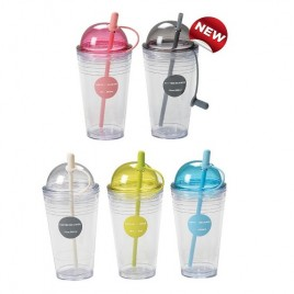 Double Wall Juice Cup With Straw