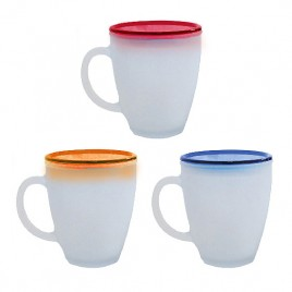 Frosted Glass Mug with Lid