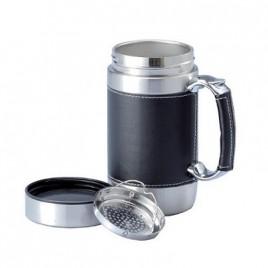 PU Leather Mug with Infuser