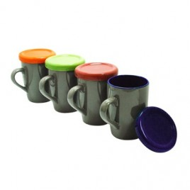 Hometip Ceramic Mug with Color Lid