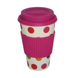 Custom Order – Bamboo Fibre Mug with Colour Dot Design