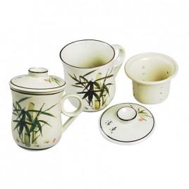 Bamboo Ceramic Cup