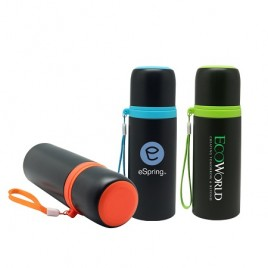 S/S Vacuum Thermos Flask with Colour Strap
