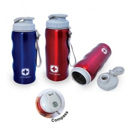 Stainless Steel Bottle with Compass