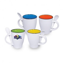 Inner Colour Mug with Spoon