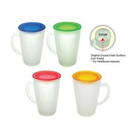 Frosted Tall Glass Mug