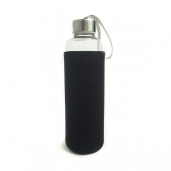 Travel Glass Bottle-Black
