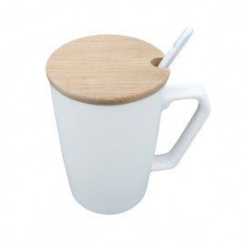 Ceramic Mug with Lid & Spoon