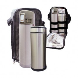 Travelling BUNO Flask & Ace S/Steel Bottle